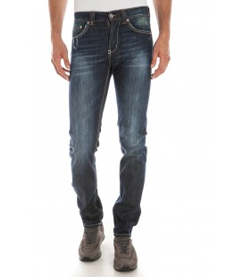 Jeans blu con zip, Dondup