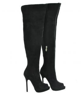 Andrea Cancellieri, Stivale alto in camoscio nero con punta aperta