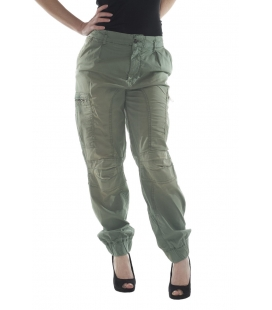 Twin Set, pantalone cargo colore verde militare