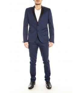 Daniele Alessandrini, abito in cotone slim fit con revers a contrasto