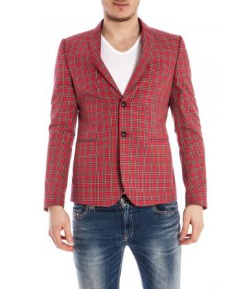 Daniele Alessandrini, giacca avvitata a scacchi col.Rosso