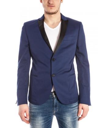 Daniele Alessandrini, giacca avvitata col. Blu con revers a contrasto