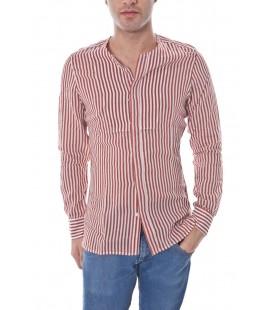 Daniele Alessandrini, camicia a righe col.Rosso