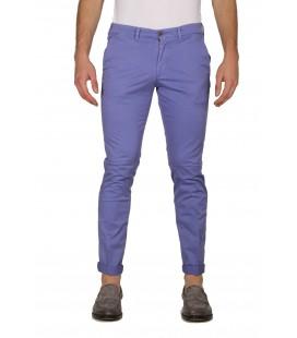 40Weft, pantalone a tubo col.Viola