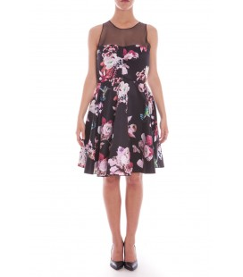 Vestito corto con decorazioni floreali, PINKO