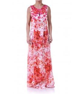 Vestito lungo con decorazioni floreali, TWIN-SET