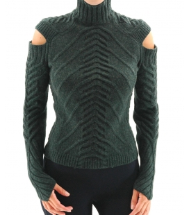 Jersey woman green cashmere , Delphine Wilson