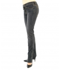 JEANS ZIP LOW STRETCH, NERO LAVATO