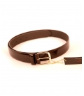 YAMAMOTO, SHINING DARK BROWN LEATHER BELT