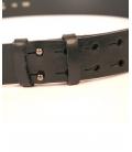 Black leather belt , Yamamoto