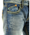 Double Black, jeans blu lavato con cuciture posteriori