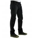 Double Black, jeans nero con scritta ed applicazioni
