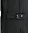 Double Black, cappotto nero a tre bottoni