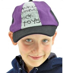 Frankie Morello, cappellino bimbo, grigio nero e viola