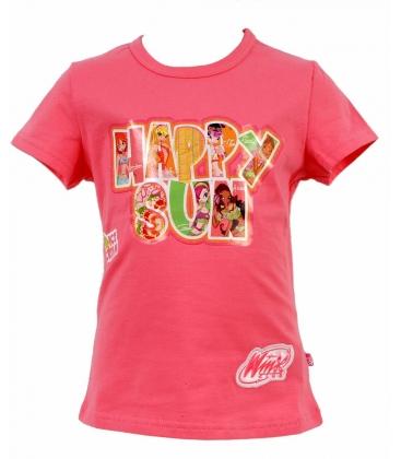 Winx, T-shirt rosa a maniche corte
