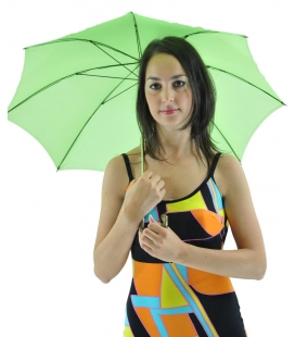 Bright green umbrella , vintage