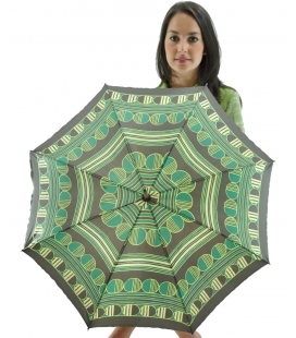 green umbrella , vintage