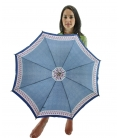 Blue umbrella , vintage