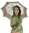Umbrella Baige geometric pattern , vintage