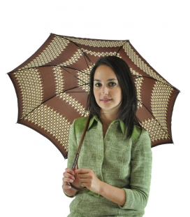 Umbrella brown geometric pattern , vintage