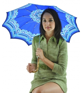 Umbrella blue geometric pattern , vintage