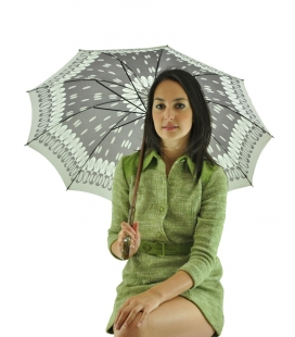 gray umbrella , vintage