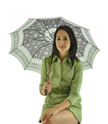 ombrello grigio, vintage