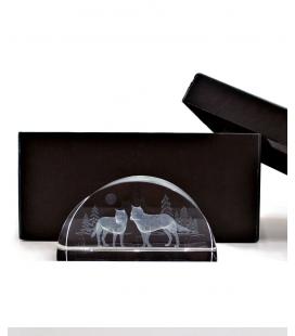 Les loups 3D cristal, cristal Impressions