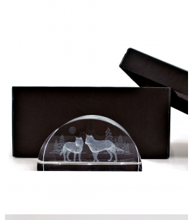 Wolves 3D crystal , Crystal Impressions