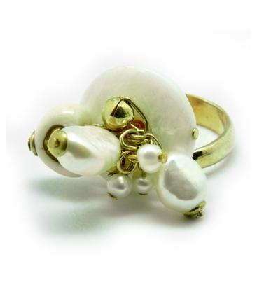 Thun, anello con cuore e pendagli bianchi